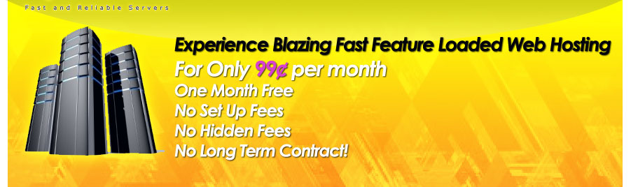 Experience Blazing Fast Feature Loaded Web Hosting